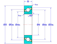 Ball Screw Support Bearings - Two Non-Contact Seals (2NK)