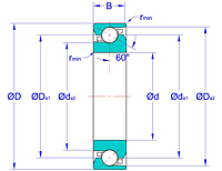 Ball Screw Support Bearings - Open