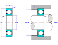 Deep Groove Ball Bearings - Two Non-Contact Seals