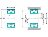 Duplex Pair Angular Contact Ball Bearings in Face to Face Arrangement (DF)
