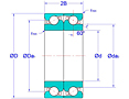 Duplex Pair Ball Screw Support Bearings in Face-to-Face Arrangement (DF)