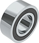 Double Row Angular Contact Ball Bearings - Two Contact Seals (2NS)